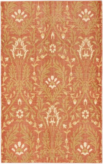 Transitional Brown Area rug 5x8 Indian Hand-knotted 168608