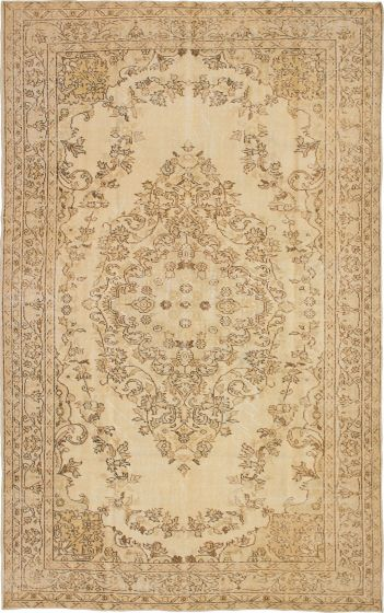 Traditional Ivory Area rug 6x9 Turkish Hand-knotted 230029