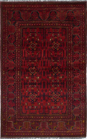 Traditional  Tribal Red Area rug 3x5 Afghan Hand-knotted 236290