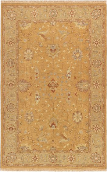 Bordered  Traditional Brown Area rug 5x8 Pakistani Flat-weave 284303