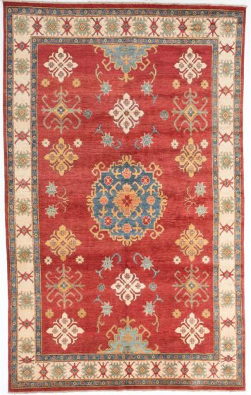 Traditional Red Area rug Unique Afghan Hand-knotted 204345