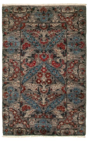 Traditional  Transitional Grey Area rug 3x5 Pakistani Hand-knotted 342103