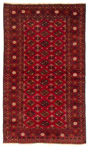 Geometric  Tribal Red Area rug 3x5 Afghan Hand-knotted 367568
