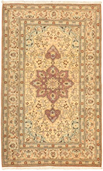 Traditional Pink Area rug 3x5 Turkish Hand-knotted 40580