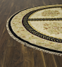 Transitional Green Area rug 6x9 Nepal Hand-knotted 54799