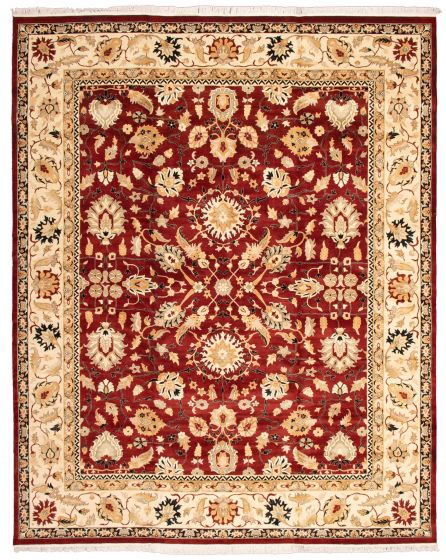 Bordered  Traditional Red Area rug 12x15 Pakistani Hand-knotted 339163