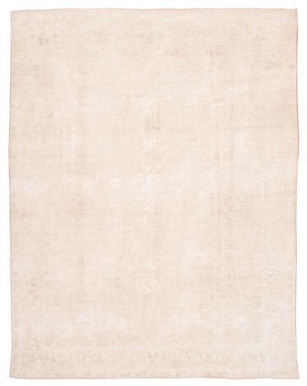 Bordered  Vintage Yellow Area rug 9x12 Turkish Hand-knotted 360559