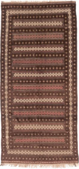 TraditionalTribal Brown Area rug Unique Afghan Hand-knotted 201380