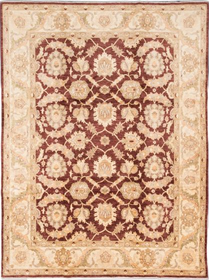Traditional Brown Area rug 9x12 Afghan Hand-knotted 195552