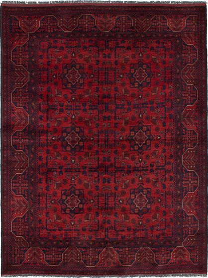 Traditional  Tribal Red Area rug 4x6 Afghan Hand-knotted 236178
