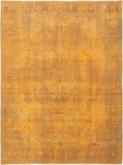 Overdyed  Transitional Orange Area rug 9x12 Turkish Hand-knotted 280420