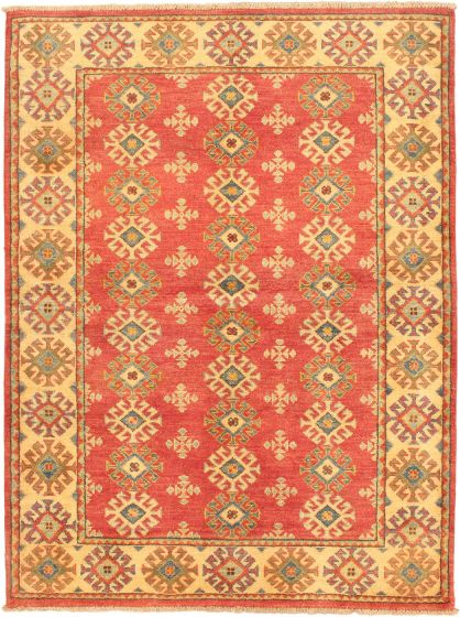 Transitional Ivory Area rug 3x5 Afghan Hand-knotted 37529