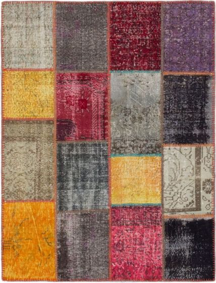 Transitional Multi Area rug 4x6 Turkish Hand-knotted 187460