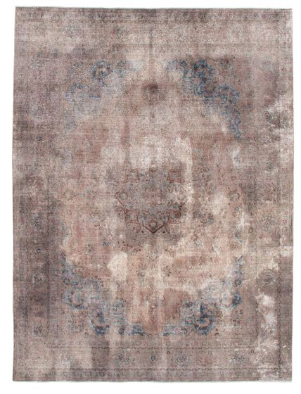 Bordered  Vintage Grey Area rug 8x10 Turkish Hand-knotted 342233