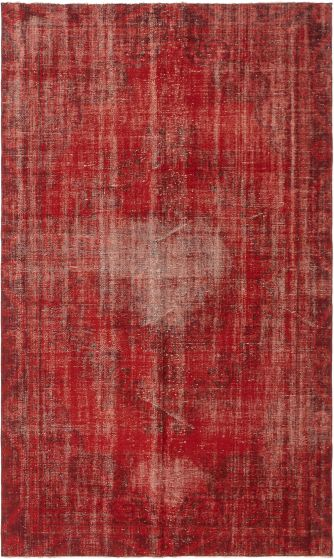 Bordered  Transitional Red Area rug 6x9 Turkish Hand-knotted 295841