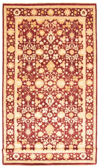 Bordered  Traditional Red Runner rug 17-ft-runner Afghan Hand-knotted 330338