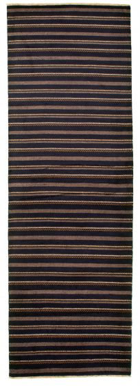 Casual  Transitional Blue Runner rug 9-ft-runner Pakistani Hand-knotted 331259
