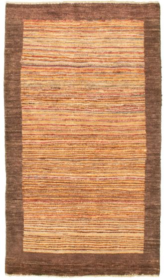 Casual  Transitional Ivory Area rug 3x5 Pakistani Hand-knotted 330446