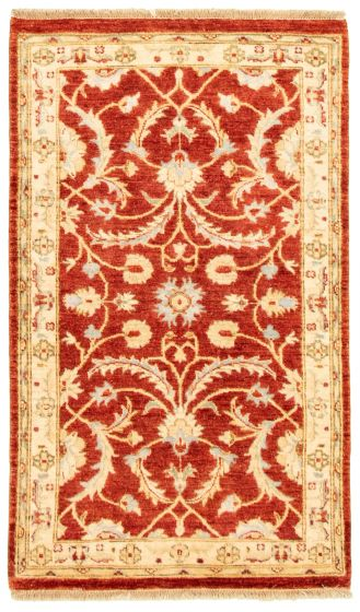 Bordered  Traditional Brown Area rug 3x5 Afghan Hand-knotted 331589