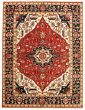 Bordered  Traditional Red Area rug 9x12 Indian Hand-knotted 331923