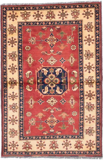 Tribal Brown Area rug 3x5 Afghan Hand-knotted 203109