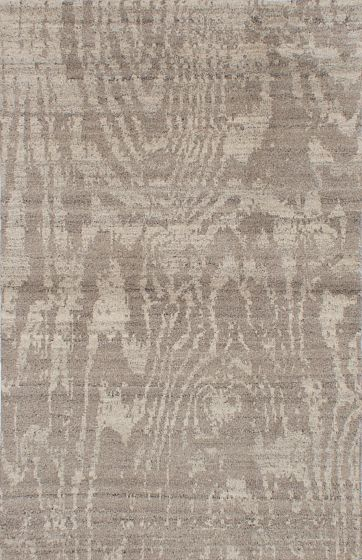 Transitional Green Area rug 5x8 Indian Hand-knotted 222110