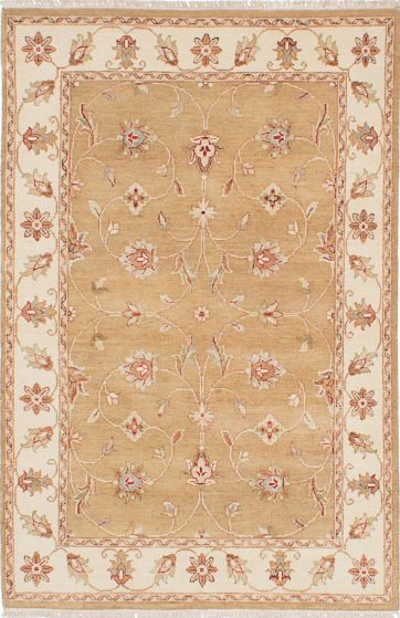 Traditional Orange Area rug 3x5 Indian Hand-knotted 223858