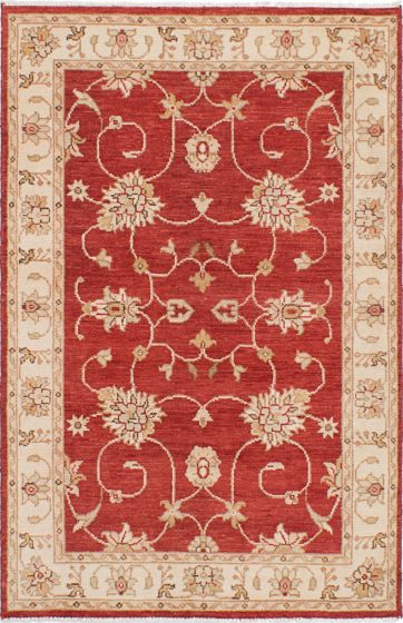 Traditional Red Area rug 3x5 Indian Hand-knotted 223919