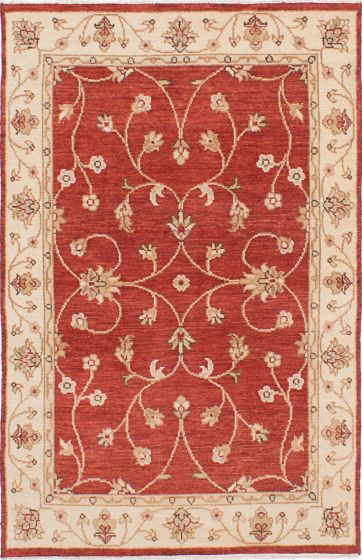 Traditional Red Area rug 3x5 Indian Hand-knotted 223924