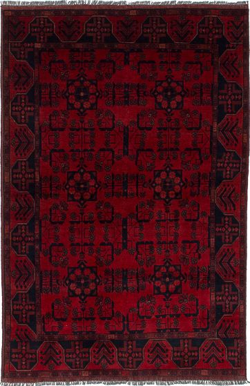 Traditional  Tribal Red Area rug 3x5 Afghan Hand-knotted 234521