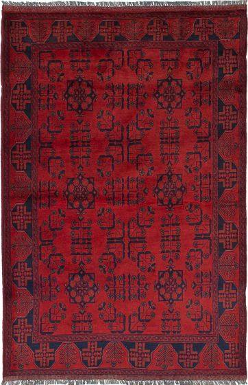 Traditional Red Area rug 3x5 Afghan Hand-knotted 236242