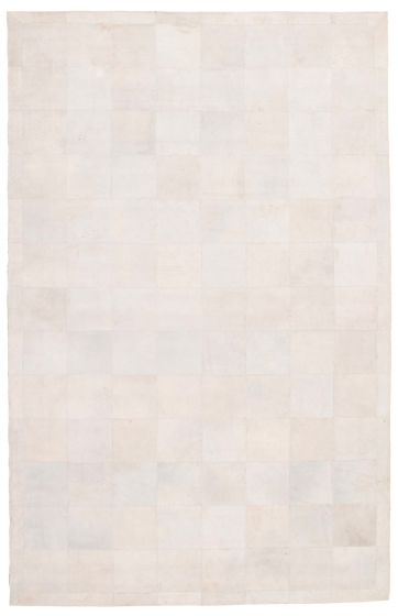 Accent  Transitional Grey Area rug 5x8 Argentina Handmade 340280