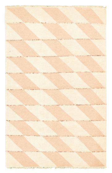 Flat-weaves & Kilims  Transitional Yellow Area rug 5x8 Turkish Flat-weave 344457