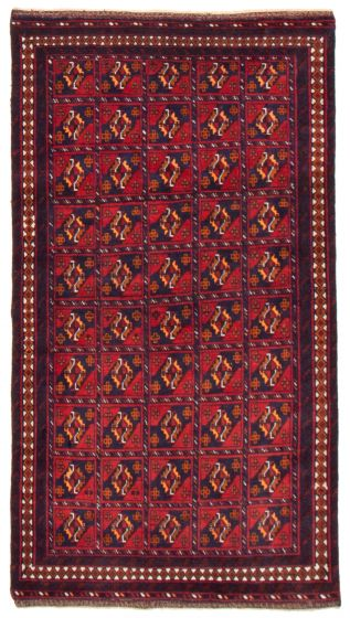 Geometric  Tribal Red Area rug 4x6 Afghan Hand-knotted 367549