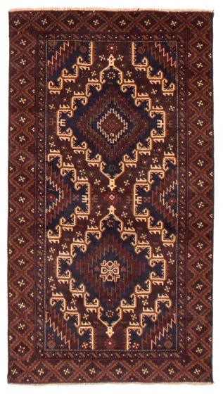 Geometric  Tribal Brown Area rug 3x5 Afghan Hand-knotted 367566