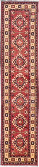 Tribal Brown Runner rug 12-ft-runner Afghan Hand-knotted 203057