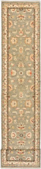 Traditional Grey Runner rug 20-ft-runner Afghan Hand-knotted 181190
