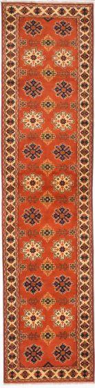 Tribal Brown Runner rug 12-ft-runner Afghan Hand-knotted 203313