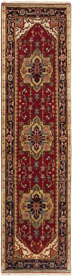 Traditional Orange Runner rug 10-ft-runner Indian Hand-knotted 163020