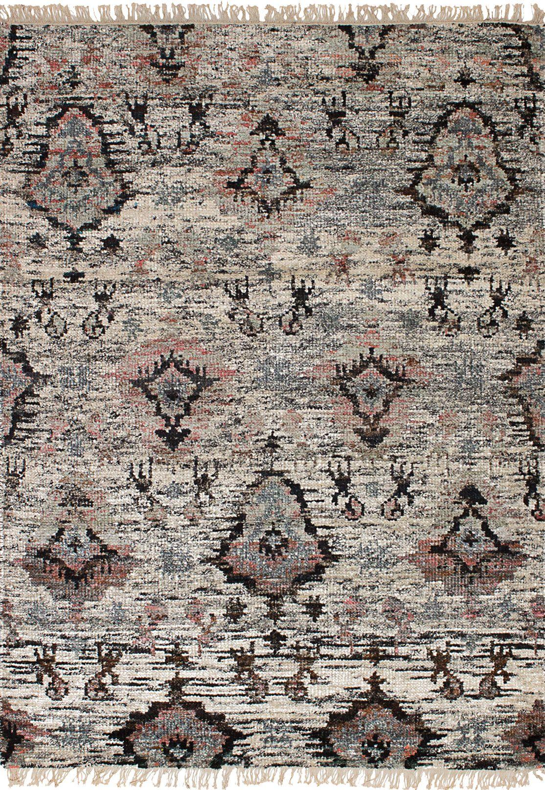 Indian Sari Silk 4 6 X 6 6 Hand Knotted Silk Ivory Rug Ecarpetgallery