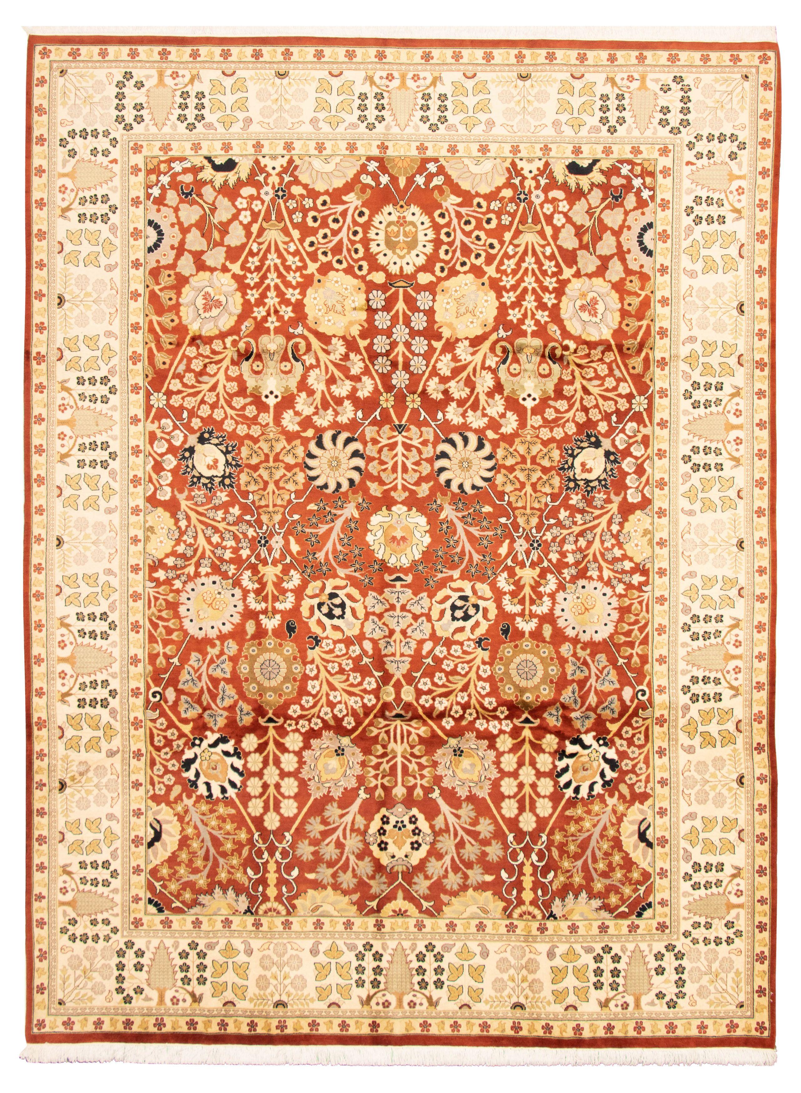 Pakistani Pako Persian 18 20 9 1 X 12 3 Hand Knotted Wool Orange Rug Ecarpetgallery
