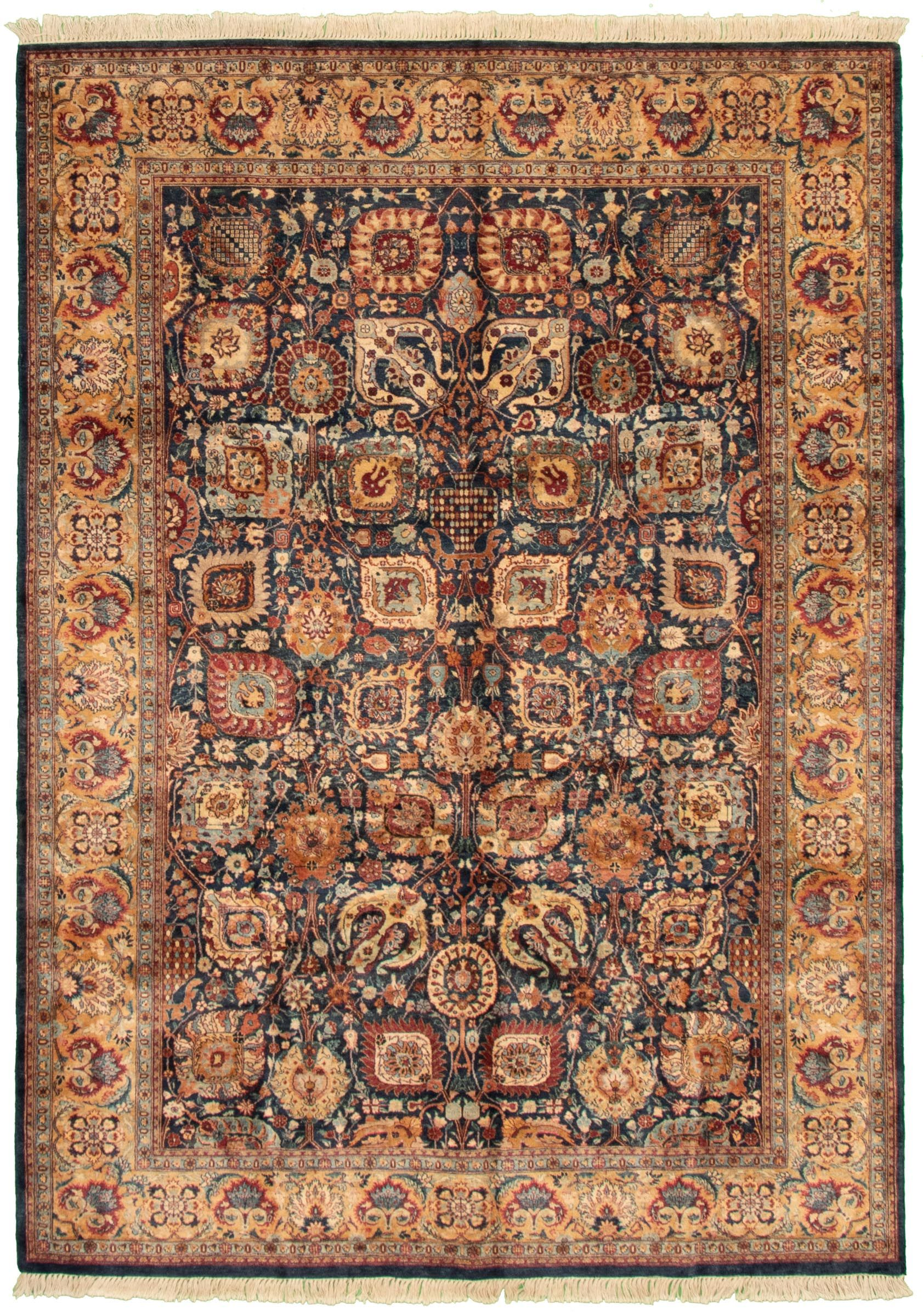 Pakistani Pako Persian 18 20 6 0 X 8 5 Hand Knotted Wool Dark Navy Rug Ecarpetgallery