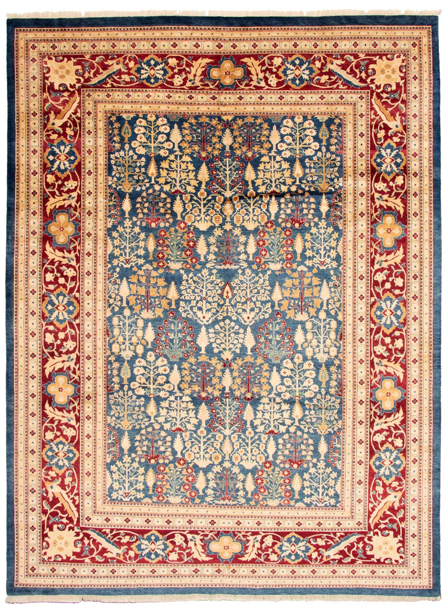 Pakistani Pako Persian 18 20 10 0 X 13 6 Hand Knotted Wool Dark Blue Rug Ecarpetgallery