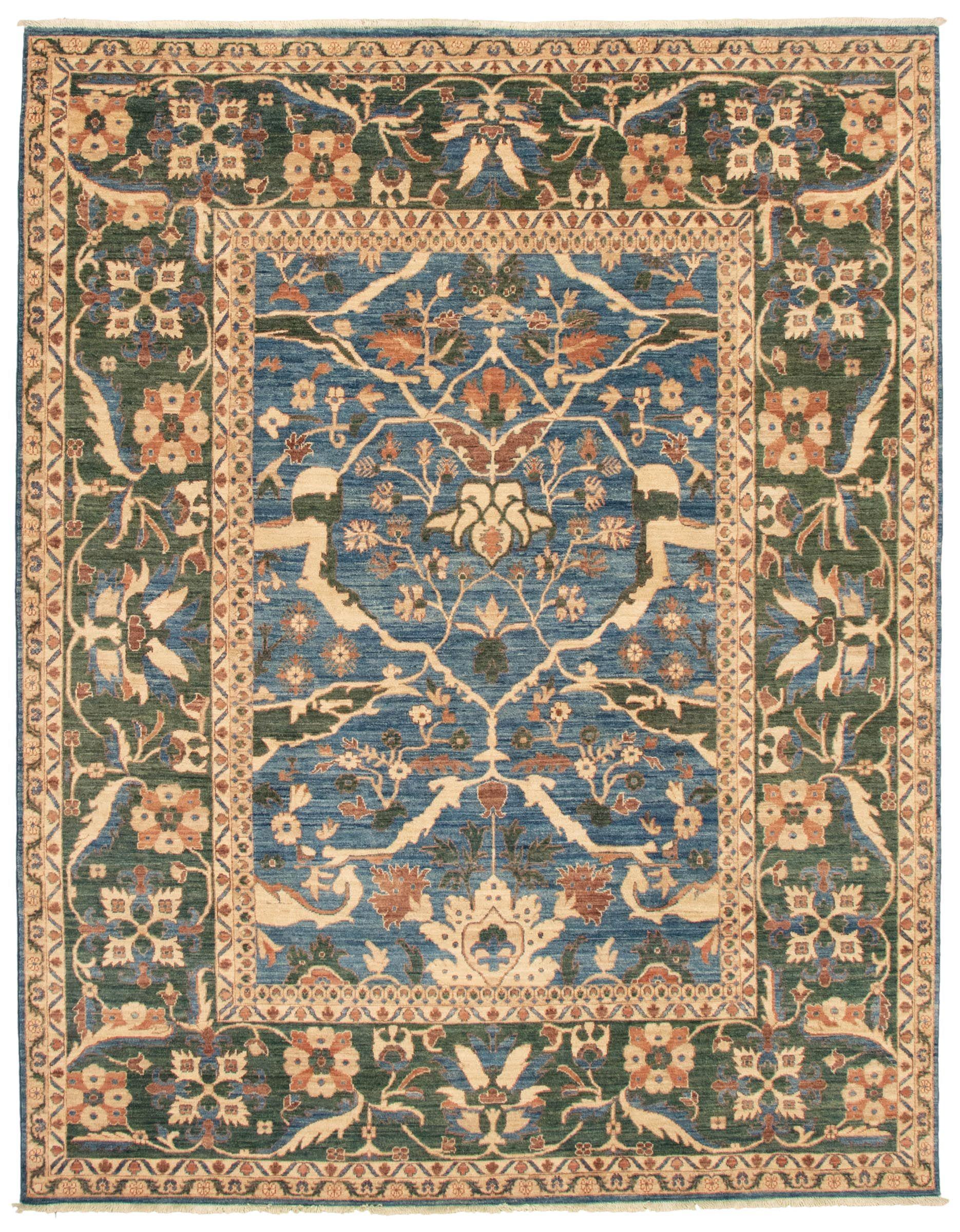 Pakistani Peshawar Finest Ottoman 7 10 X 9 10 Hand Knotted Wool Dark Blue Rug Ecarpetgallery