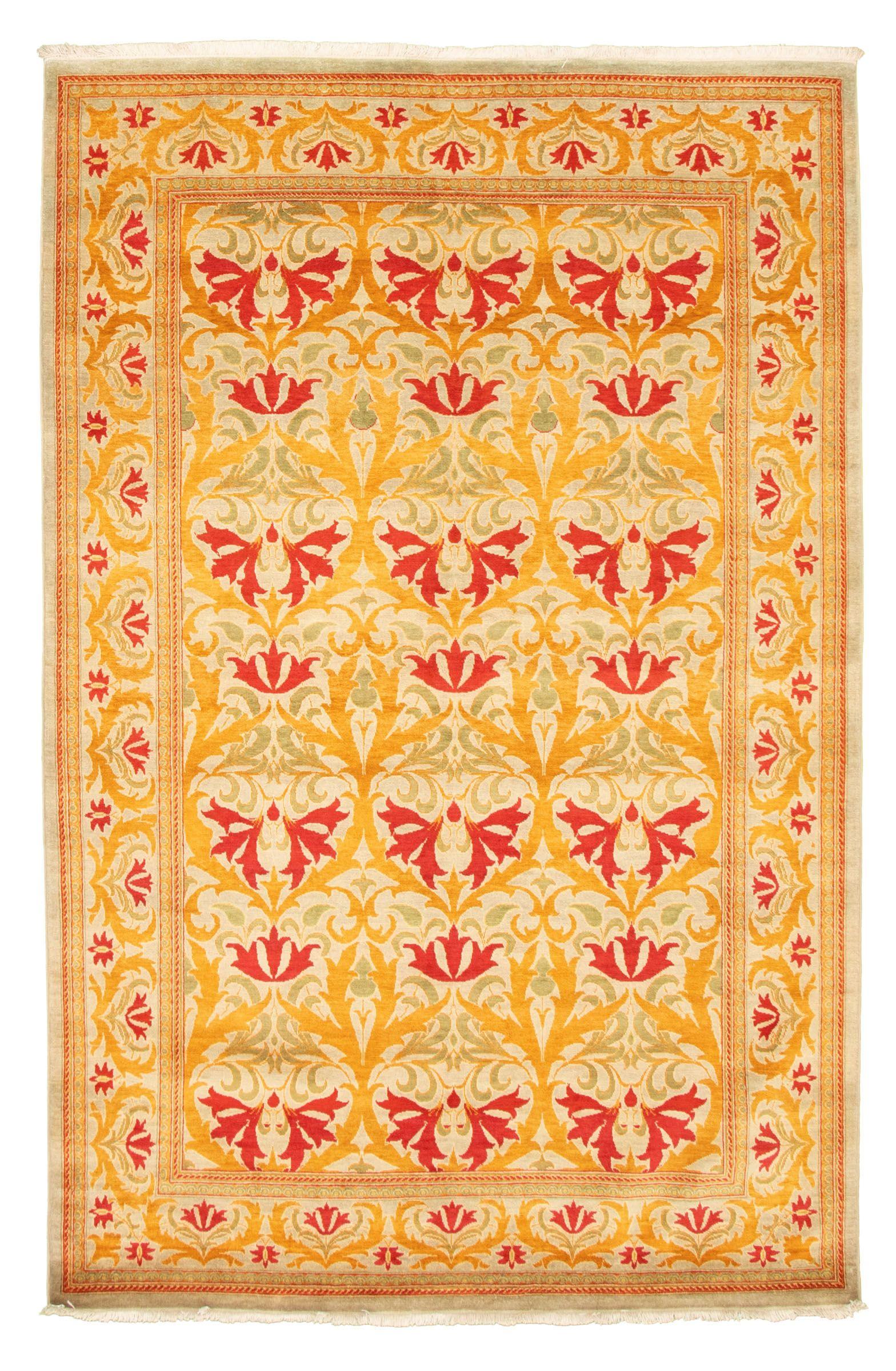 Pakistani 18 20 Pak Finest 6 2 X 9 0 Hand Knotted Wool Orange Rug Ecarpetgallery