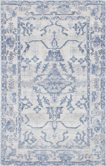 Transitional Grey Area rug 6x9 Indian Hand-knotted 224522