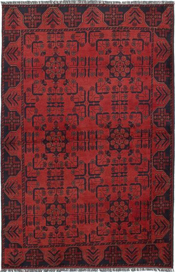 Traditional  Tribal Brown Area rug 3x5 Afghan Hand-knotted 234586
