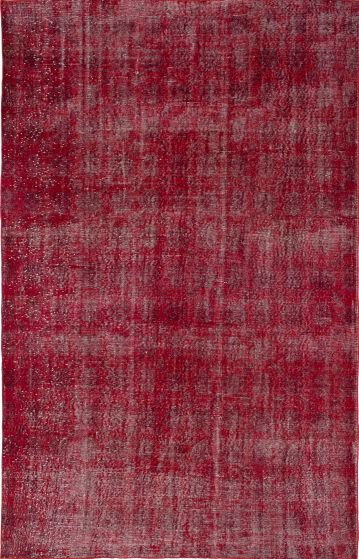 Bohemian  Transitional Red Area rug 6x9 Turkish Hand-knotted 236713