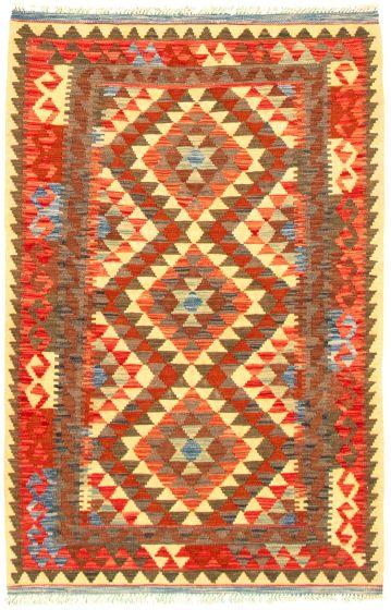 Bordered  Flat-weaves & Kilims Multi Area rug 3x5 Turkish Flat-weave 330168