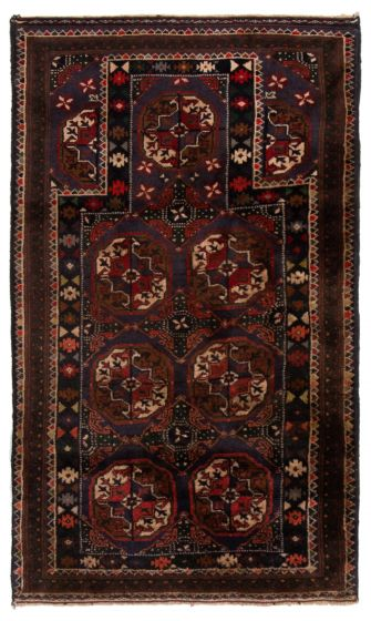 Bordered  Tribal Red Area rug 3x5 Afghan Hand-knotted 360600